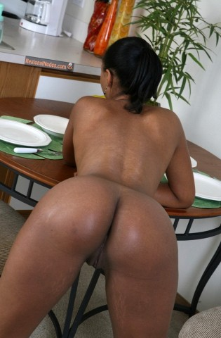 Black North American Woman Ass Bent Over nude