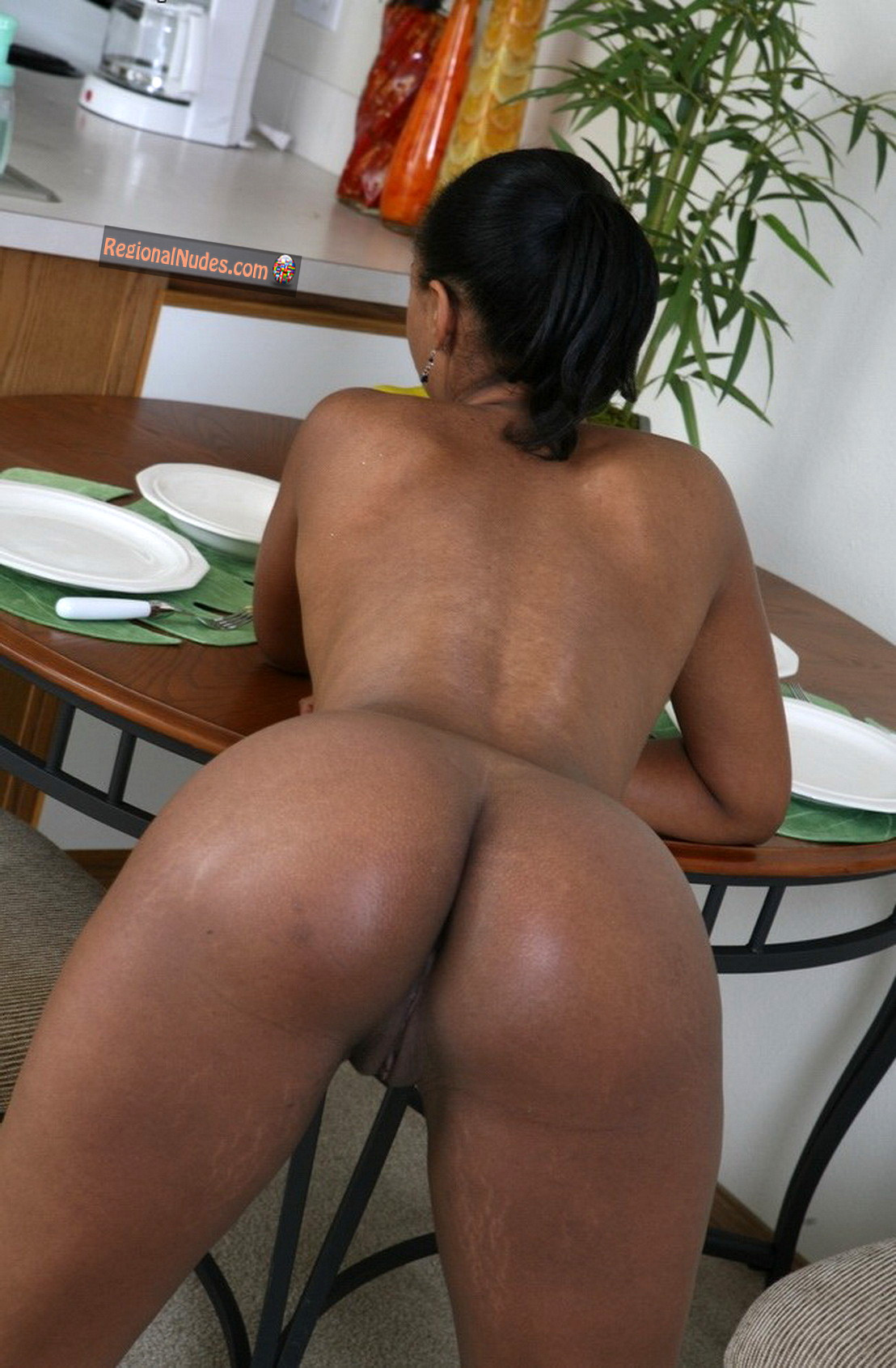 Black women bent over