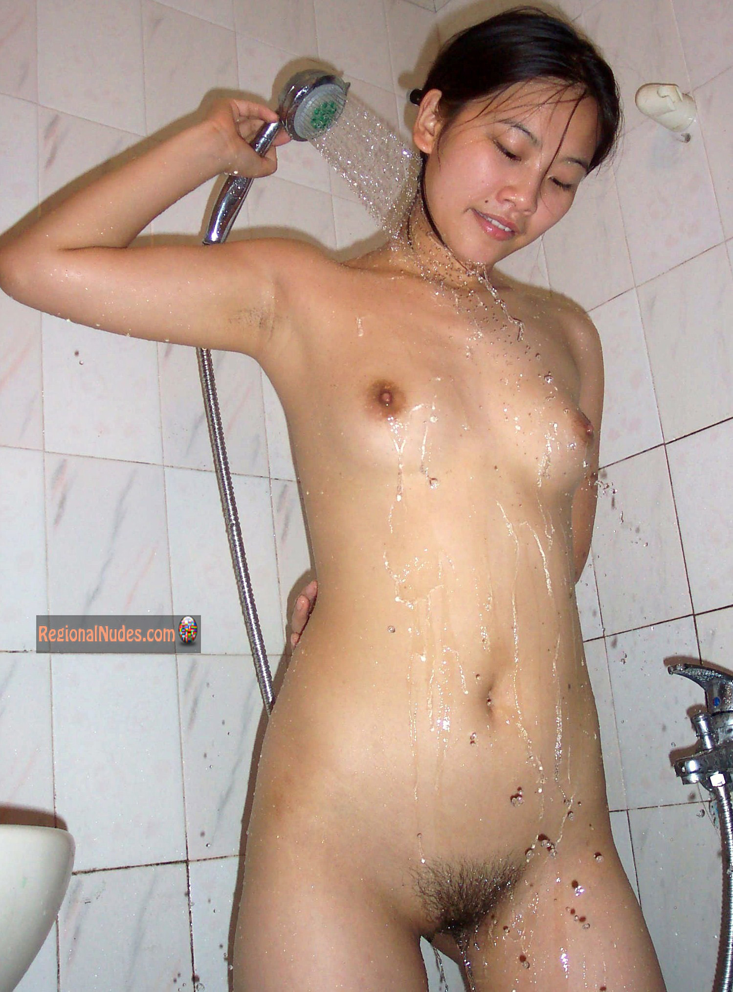 Chinese Teen Girl Showering Nude  Regional Nude Women -3588