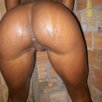 Naked Brazilian Wet Babe Butt