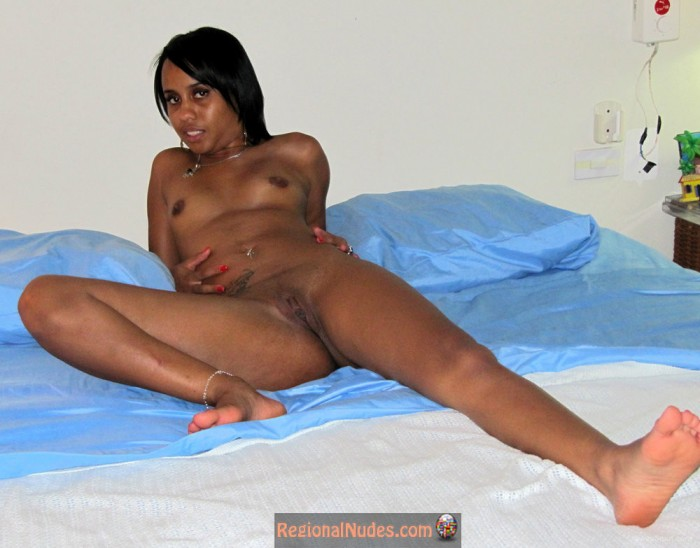 Naked women tied up on a bed-8748
