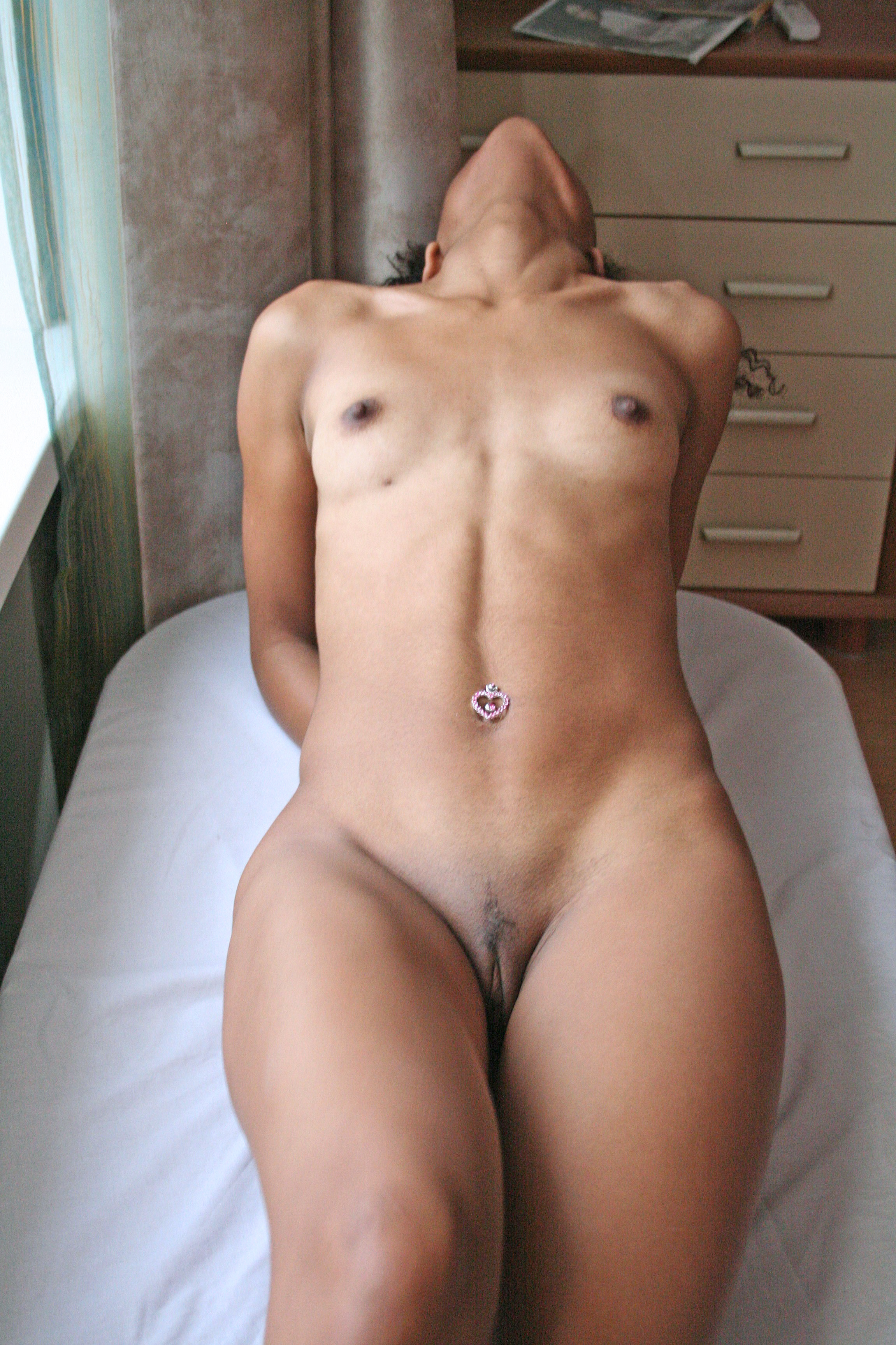 A mature nudist masturbates filmed by a voyeur 1