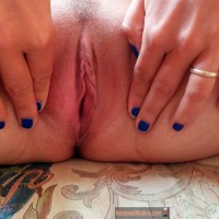 French Wife's Shaved Vagina Crack