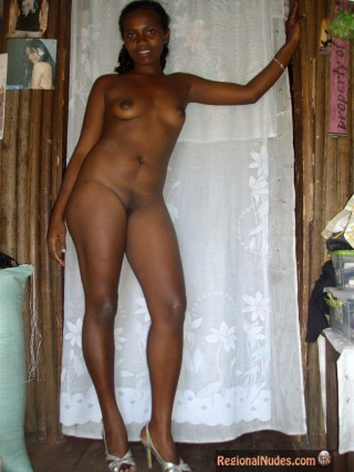 Nude Malagasy Woman at Home