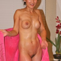 Slim Wet Naked Chinese Woman
