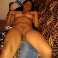 Amateur Naked Brazilian Gal on Couch