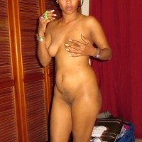 Bare Dominican Woman Posed at Home