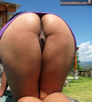 Beautiful Peruvian Woman Naked Ass on all fours
