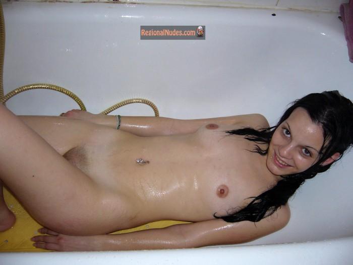 Cute Argentine Teen Girl Naked in Bathtub