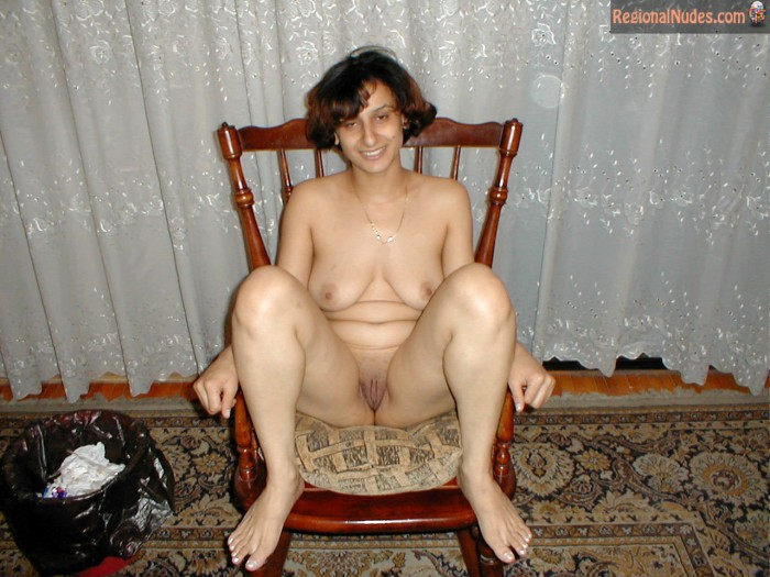 Naked Chubby Moroccan Woman Sitting Down