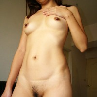 Naked Japanese Female Posed at Home