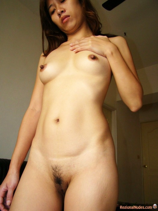 Naked Japanese Female Posed at Home