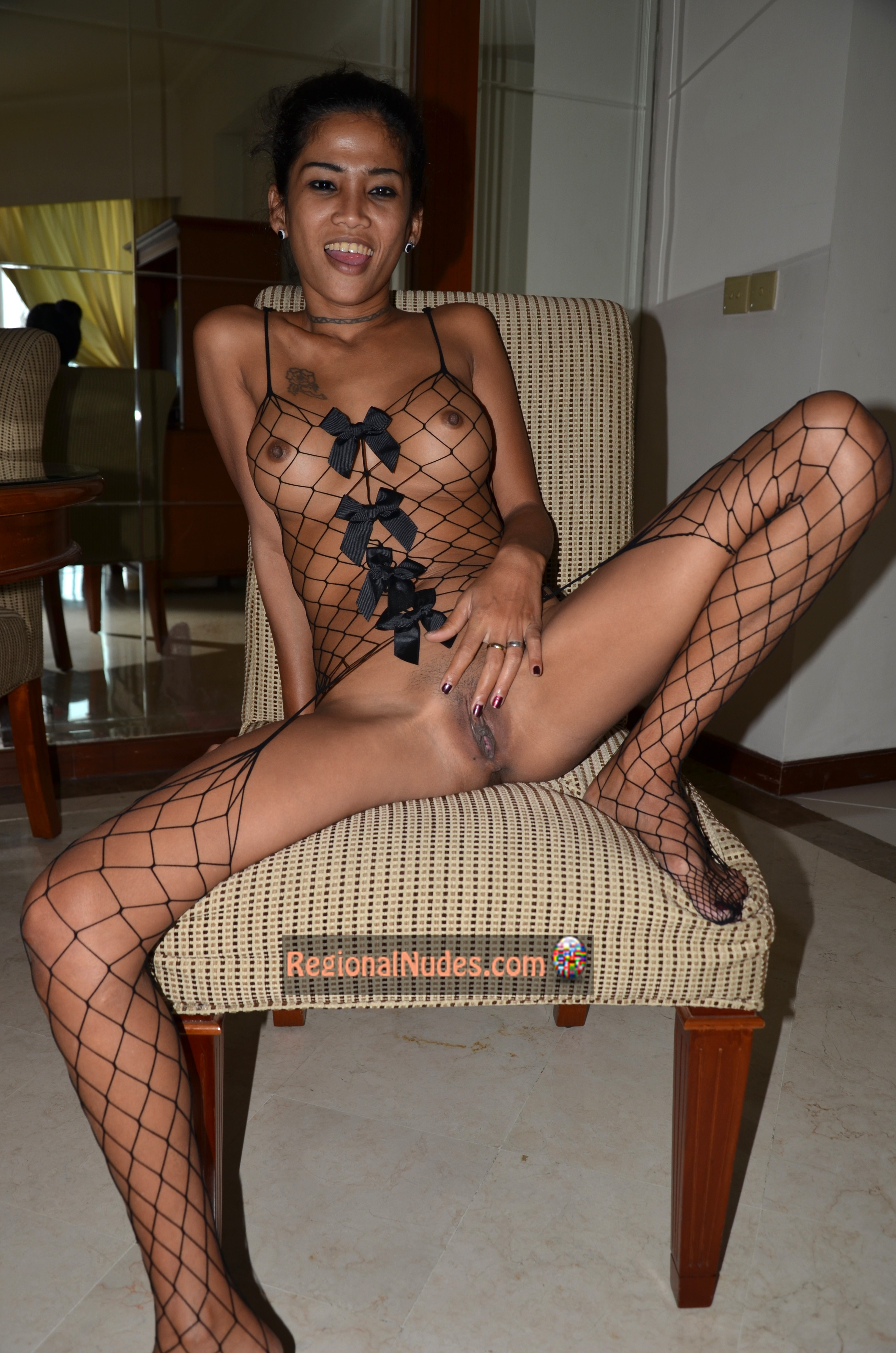 Indonesian-Porn – Naked-Tall-Thin-Indonesian-Girl-Fishnets-Lingerie-HD