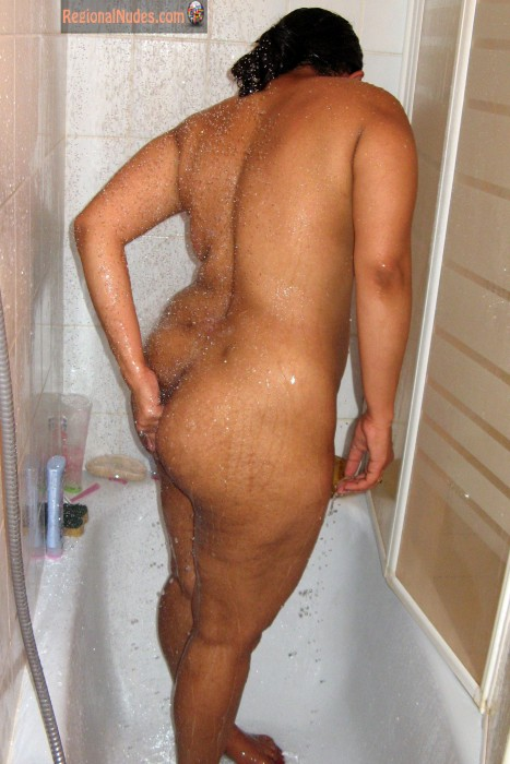 Washing Tamil Indian Ass in Shower