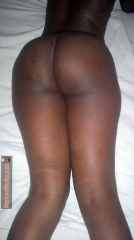 Bare Kenyan Black Bum