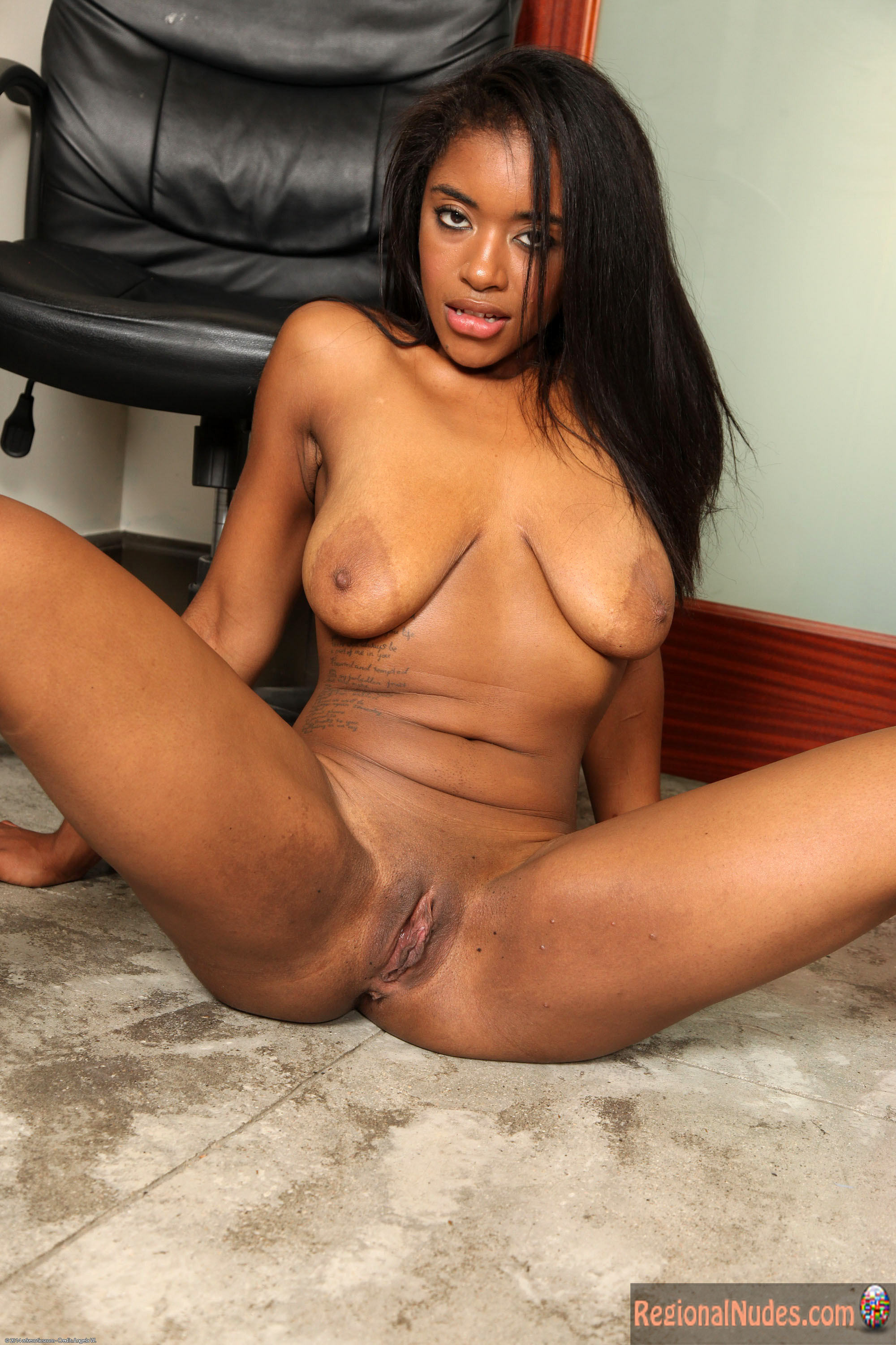 Black American Slut Full Naked Body  Regional Nude Women -9954