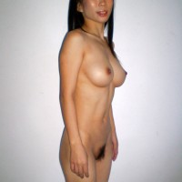 Bushy Singaporean Babe Round Breasts