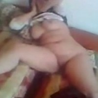 Arab girl from Egypt play with her big boos and shaved pussy
