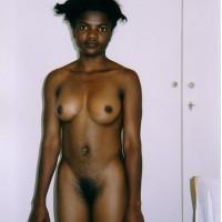 Black Namibian Woman Posing Nude