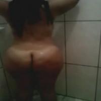 Brazilian Bbw With A Huge Fat Ass Taking A Shower