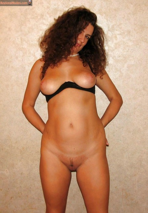 Curly Russian Girl Tits and Pussy