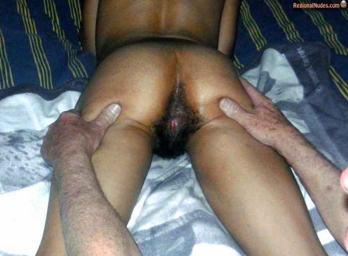Spreading Mulatto South African Butt Wet hairy Vagina