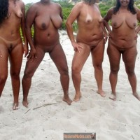 4 Brazilian Nudist Women Bodies on Beach