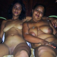 Colored Nude Jamaican Mother and Daughter