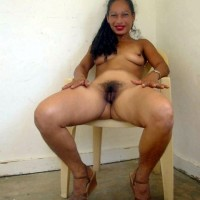 Nude Jamaican Wife Hairy Pussy