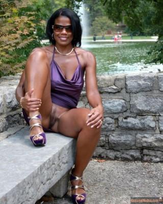 Black American Milf Voyeur Pussy