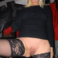 Blonde Hot German Housewife Pussy Piercing