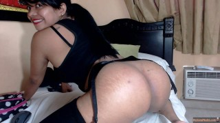 Colombian Woman Round Bare Buttocks