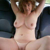 Mature French Wife Nude in Car
