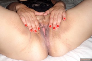 Shaved Mature Spanish Vagina Spreading