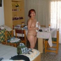 Spanish Mother Posed Naked at Home