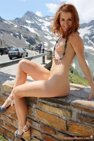 Beautiful Austrian Girl Public Nudist in Vienna