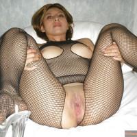 Guatemalan Woman Body Fishnets Wet Pussy