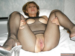 Guatemalan Woman Body Fishnets Wet Pussy