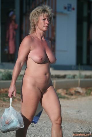 Mature German Nudist Wife Hairy