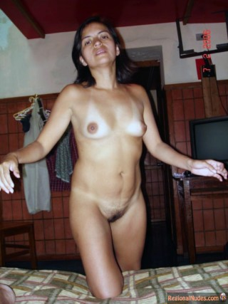 Mexican Woman Nude at Home