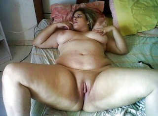Nude Fat Egyptian Woman in Bed