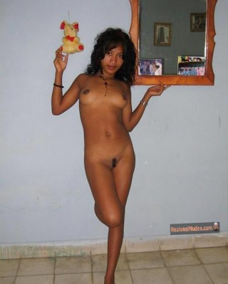 Nude Malagasy Teen Babe at Home
