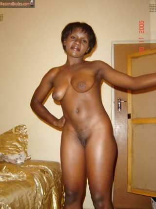Nude Zambian Lady at Home