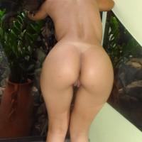 Pretty Brazilian Naked Ass Bent Over