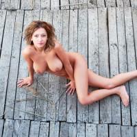 Pretty Romanian Babe Posing Nude Outdoors