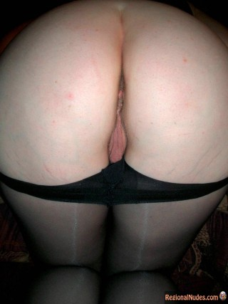 Stockings Off German Butt Shaved Cunt