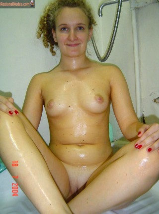 Wet Austrian Girl Nude in Bathroom