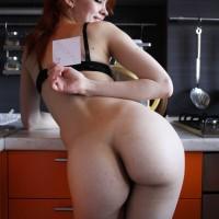 Beautiful Ukrainian Babe Posing her Bare Ass