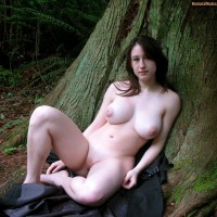 British Naked Busty Lassie in the Forest