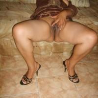 Mexican Exposing Vagina at Home